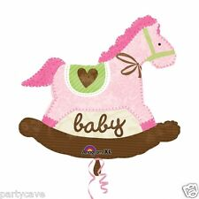 Supershape Baby Pink Rocking Horse Balloon Official Party Product Anagram
