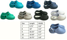 Medical Nursing Womens Ultralite Clogs With Heel Strap Non-Slip Light Shoes