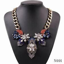2017 New Gold Plated Chain Chunky Pendant Choker Collar Bib Statement Necklace