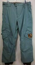Burton Asym Snowboard Ski Pants Size XL Blue Green White Collection Snow