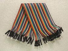 40 Wire 40p Male-Male Breadboard Jumper Ribbon Wires 20cm for Arduino *US SHIP*
