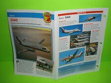 SAAB 340 AIRCRAFT  FACTS CARD  AIRPLANE BOOK 33