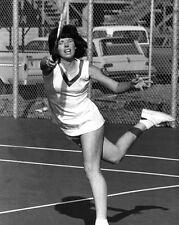Tennis Legend BILLIE JEAN KING Glossy 8x10 Photo Action Print