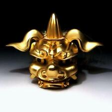 @JR48: Japanese Metal Lion Mask Ornament for Traditional Lion Dance, SHISHI-MAI