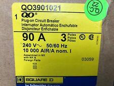 Rare Square D Qo390-1021 Circuit Breaker, Qo / Nq 3P 90A, 120Vac Shunt Trip
