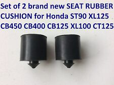 Set of 2 SEAT RUBBER CUSHION for Honda XL125 CB450 CB400 CB125 XL100 CT125 ST90