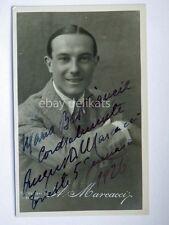 AUTOGRAFO Autograph AUGUSTO MARCACCI attore cinema foto Vettori Bologna 1926