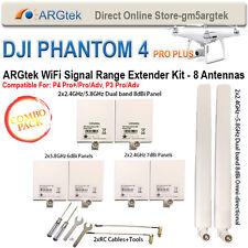 ARGtek DJI Phantom 4 PRO+/PRO/ADV, P 4, 3 PRO/Adv Range Extender Kit - 8 Antenna