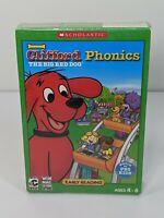 Clifford the Big Red Dog: Phonics PC Game Windows XP - BRAND NEW