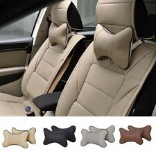 1PCS Breathe Leather Car Auto Seat Head Neck Rest Cushion Headrest Pillow Pad