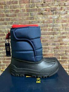 Kids Polo Ralph Lauren Snow Boot Navy Red Toddler/Kids/Big Kids