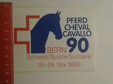 Aufkleber/Sticker: Pferd Cheval Cavallo 90 Bern Schweiz (230916190)