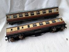 Hornby Dublo Tinplate Passenger Carriage Lot X 2