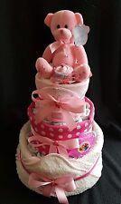 Le neonate tre Tier pannolino cake baby shower REGALO documenti PANNOLINI Asciugamano aperto
