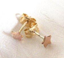 Tiny rose gold star studs, 9ct rose gold star earrings, childrens, star earrings