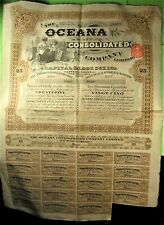 Bond on The Oceana Consolidated Co. London 1929 with couponsl
