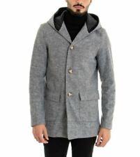 Cappotto da uomo con cappuccio grigia