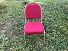 More details for 1 only - red fabric stacking banqueting chair with gold frame