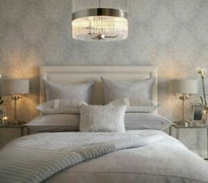 Laura Ashley Maddox Silver Grey Wallpaper * FREE DELIVERY *