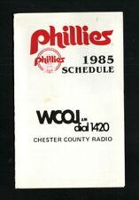 Philadelphia Phillies--1985 Pocket Schedule--WCOJ