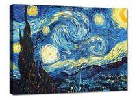 Quadro Moderno Cm 100x70 Stampa su Tela Arredamento Arte Arredo Casa Van Gogh