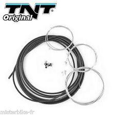 Kit complet 5 cable Noir + gaine 6m gaz starter accélérateur frein 103 / MBK 51