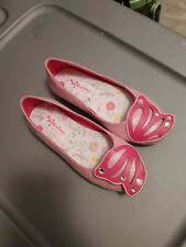 American Girl Wellie Wishers Flutter Wings Shoes For Girls, Size 1, Pink Flats