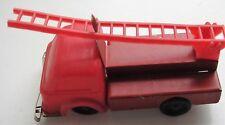 Cccp Soviet Vintage Plastic Metal Toy Fire Car Truck
