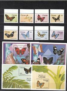 Guyana, 1994 Butterflies 4723-30, Block 423-26, (32573)