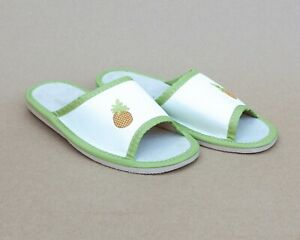 Kids Girls Boys Natural Leather Slippers Sandals Home Shoes Kapcie Pineapple