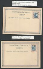 Liberia early postal stationery collection (8)
