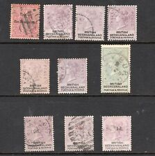 BECHUANALAND PROTECTORATE 1885-1888 QUEEN VICTORIA STAMPS TO 1/- PLUS SURCHARGES