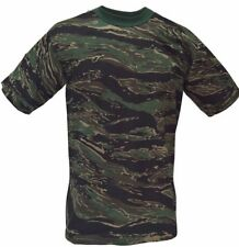 T-SHIRT Tiger Stripes Camouflage Made In USA  50/50 poly cotton Size 3XL