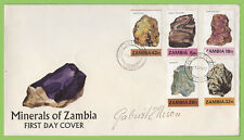 Zambia 1982 Minerals of Zambia Part I First Day Cover, signed by Designer