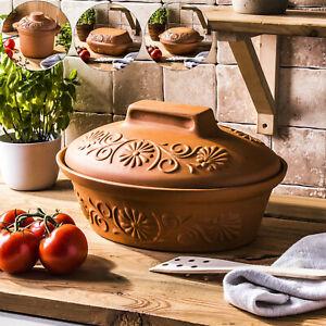 TONTOPF mit Deckel Bräter Brottopf Schmortopf Kochen Groß Klein 3/4/7 l BROWIN