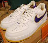 2004 Nike Air Force 1 mens 9.5  'L.A. Lakers', Rare & Amazing! VNDS