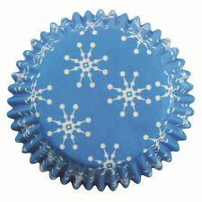 PME 100pk SNOWFLAKES MINI Cupcake Muffin Fairy Cake Baking Cases Holders
