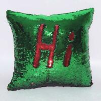 4 Colors Reversible Mermaid Pillow Sequin Cover Glitter Sofa Cushion Case Double