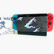 Nintendo Switch Dock Sock Screen Cover -Wave's in the Golden Sea print Japanese