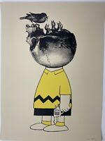 Clean Slate X/46 Rob Jones Charlie Brown Screenprint Grief Self Portrait SIGNED