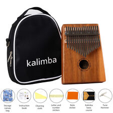 New17 Keys African Acacia Wood Kalimba Thumb Piano Finger Percussion Music Mbira