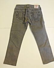 True Religion pre-owned crop jeans in gray. Sz 27
