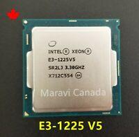 Intel Xeon E3-1225 V5 SR2LJ 3.3GHz Quad 4 Core LGA 1151 80W CPU Processor