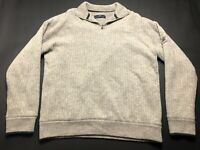 Murray Golf Kingsbarns Mens Gray Wool Long Sleeve 1/4 Zip Sweater Size 2XL