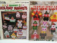 HOLIDAY Plastic Canvas Magnets AND Stick Ups PATTERNS Halloween Christmas Easter