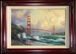 Thomas Kinkade ~ Golden Gate Bridge S/N ~ 24x36 ~ Limited Edition Canvas