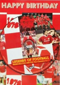 Manchester United Legends of Football - Themed Happy Birthday Card & DVD Film