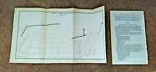 1876 Improvement Map of Oswego Harbor Lake Ontario Light House New York
