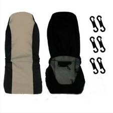 Universal Car Front Rear Seat Covers Cushion Pad for Crossovers SUV Sedan Beige