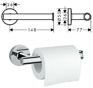 Hansgrohe Logis Open Toilet Paper Roll Holder Chrome - 41726000 No Cover